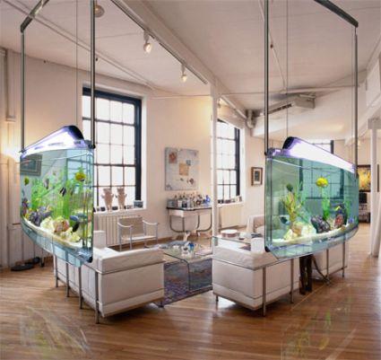 Spacearium l 39 acquario che arreda e divide gli spazi interni for Acquari da arredamento