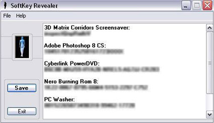 SoftKey Revealer per Recuperare i Serial Number e License Key di