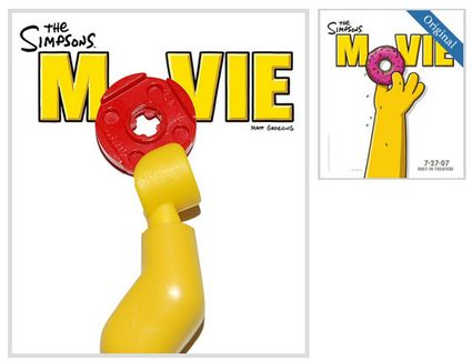 21 Fantastiche Locadine di film ricreate con le LEGO - Simpsons The Movie LEGO