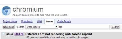 Font-face che scompaiono in Chrome: soluzione temporanea