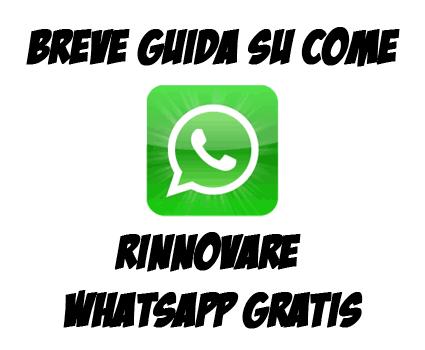 Rinnovare WhatsApp gratis